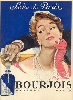 December Marie Claire Monthly Magazines for Women in English Vintage French Posters, Pub Vintage, Vintage Paris, French Vintage, Retro Advertising, Retro Ads, Vintage Advertisements, Bourjois Perfume, Dior Perfume