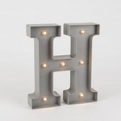 Metallskylt LED H - 25 cm
