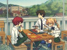 Emi, Rin, and Hisao - Katawa Shoujo
