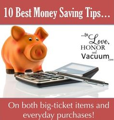 10 Best ways to Save Money, starting now!