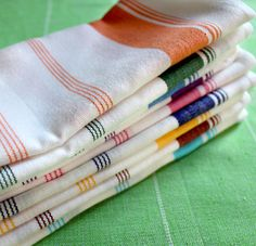 Add a pop of #color to any dining room table with these fun #napkins!