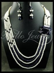 pearl and blue sapphire combination