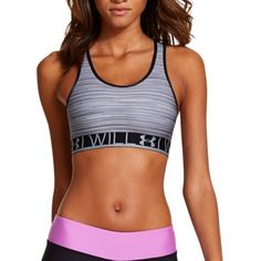 Rank & Style Top Ten Lists | Under Armour Heatgear Alpha Printed Sports Bra #rankandstyle #printed #grey #running