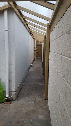 Side Walkway, Covered Walkway, Lean To Roof, Lean To Shed, House Siding, House Roof, Lean To Conservatory, Custom Sheds, Bike Shed