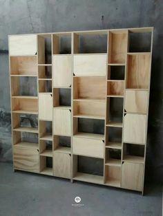 Estante librero www.maderistica.cl Plywood bookshelf