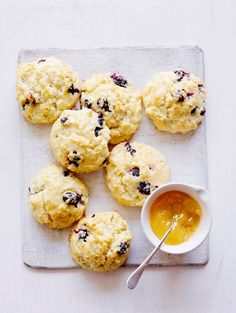 Meyer Lemon Blueberry Scones