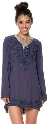Janelle Embroidered Tunic. http://www.swell.com/New-Arrivals-Womens/JANELLE-EMBROIDERED-TUNIC?cs=BU