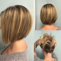 Bob Haircut with Unique Back View Make your hair lightweight and gorgeous with a slightly layered bob that features a surprise – nape undercut. Being hidden under the top layer of hair, the undercut is ideal for women who want to thin out their hair or use an easy styling trick to keep their locks in place.