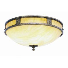 2nd Ave Design Capella 2 Light Ceiling Mount Finish: Golden Verde Premium