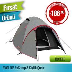 Avfoni.com'a Özel En Ucuz Fiyat Garantisi!  Evolite Ex Camp 3 Kişilik Çadır
