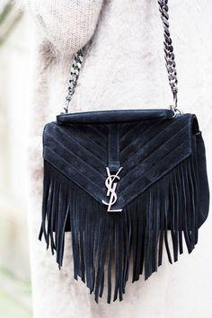 Saint Laurent's coveted fringed bag.