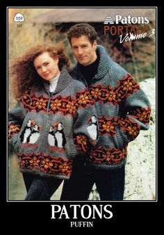 Paton Puffin Sweater Pattern 559 by truenorthknitting on Etsy