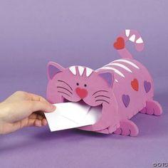 Cat Valentine Card Mailbox Valentine Craft Ideas For Kids Kid Craft Ideas For Valentines