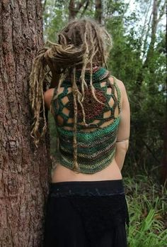I am pinning this mainly because i love her top!!! Green... Red... Purple... Knit... Crochet... Dreads are nice too... Freeform... Blonde... Tossled updo...