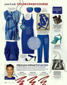Color Crash Course Cobalt Blue, InStyle magazine, April 2011, Photo by AllThingsMarie   Photobucket