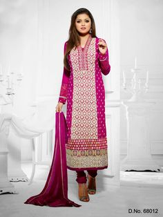 Backed by a team of skilled and experienced professionals, we are engaged in proffering Designer Long Anarkali Semi stitched salwar kameez. Widely appreciated for their elegant designs, skin-friendliness, optimum finishing and shrink resistance, these long suits are immensely popular among women. Our customers can obtain the collection in different designs, finishing, color combinations and sizes.