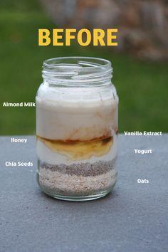 Vanilla Overnight Oats - use your favorite flavor of Greek Gods Yogurt #yogurt #oats #breakfast
