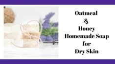 This moisturizing oatmeal honey soap for dry skin is perfect for dry, sensative, or flaky skin. This easy soap recipe makes a great handmade gift idea, too! Sugar Scrub Homemade, Homemade Soap Recipes, Bath Salts Recipe, No Salt Recipes, Bread Recipes, Oatmeal Soap, Honey Soap, Lavender Soap, Soap Base