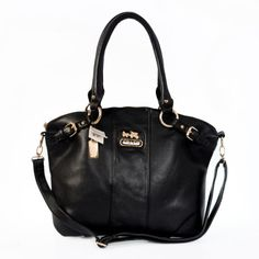 Coach Logo Charm LZ1803 Satchel In Black