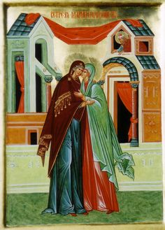 Visitation Christian Pictures, Russian Icons, Blessed Virgin Mary, Orthodox Icons, Blessed Mother, Religious Art, Our Lady, Ikon, Madonna