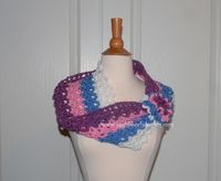 Spring Colors Crochet Cowl