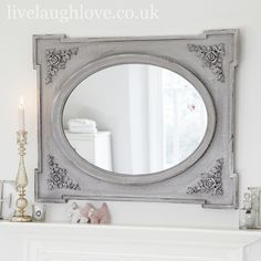 Bathroom Ideas , 6 Pretty Shabby Chic Bathroom Mirrors : Shabby Chic Mirror