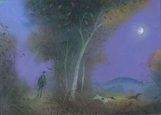 NICHOLAS HELY HUTCHINSON  A Walk at Night Oil on board 9 x 12 ins SOLD