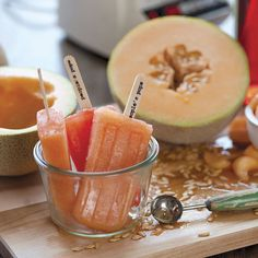 Campari and Cantaloupe Popsicle Recipe - Eat Healthy - Natural Home & Garden