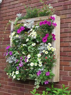 Wall-mounted box with annuals