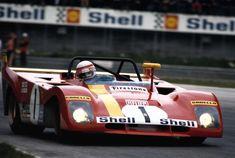 Clay Regazzoni (pictured) / Jackie Ickx, #1 Ferrari 312PB (SpA Ferrari SEFAC), 1000 Km. Monza 1972 (1st)