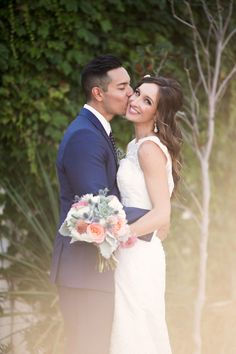 Bride and groom portraits | Laura & Steven The Villa San Juan Capistrano Wedding | Floral Occasions | Anika London Photography