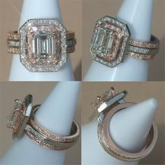Rose Gold and Platinum Engagement Ring by LaurieSarahDesigns, $14,957.42
