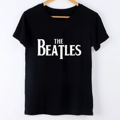 69 Ideas For Style Women Casual Black Tops Beatles Shirt, The Beatles, Casual T Shirts, Tee Shirts, Band Shirts, Vintage Band T Shirts, Plus Size Cardigans, Black Tops, Shirt Style