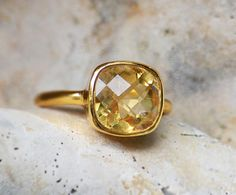 Citrine Ring  November Birthstone Ring  Gold by DaniqueJewelry