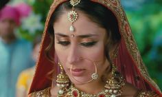 Kareena Kapoor in Bridal Dress from the movie 3 Idiots. The hims would look so good with her hair like that!