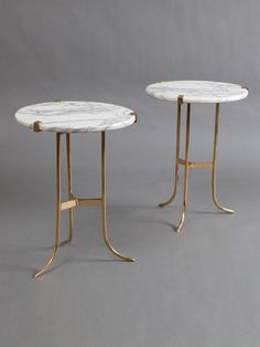 Jansen marble tables (Set of 2) by Liz O'Brien at Gilt