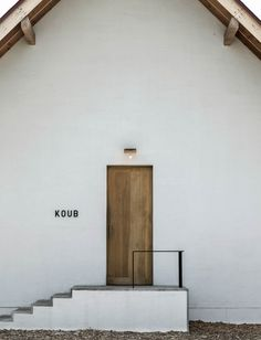signage for Koub bakery by Japanese design studio Akaoni Facade Design, House Design, Shop Facade, D House, Coffee Shop Design, Cafe Interior, Japanese Design, Interiores Design, Store Design