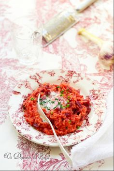 Risotto betterave et ciboulette (Beetroot risotto)