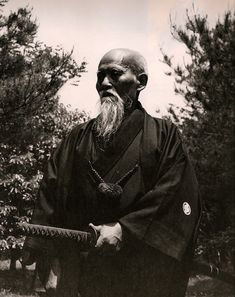Morihei Ueshiba, founder of the Japanese martial art of aikido