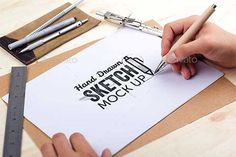 44+ Best & Free Hand Drawn Sketch Book Mockup PSD Templates