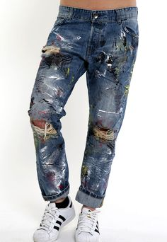 handmade all over jeans