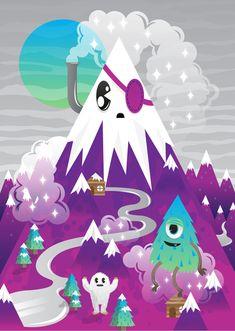 purple mountain by MisterISK on DeviantArt