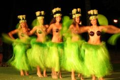 hula dancing for kids- ok the picture isn't quite for kids, but there's a video of a really simple hula lesson.