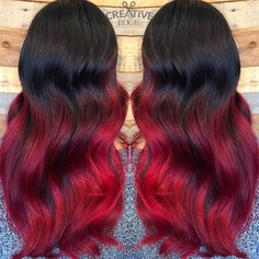 Black to Red Ombre created by Kristen Ewing!