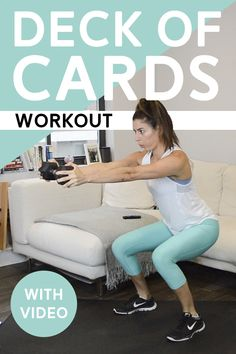 Deck of Cards Workout (50 Mins) - Each suit corresponds to a different exercise and the number tells you how many reps to do. Can you complete the whole deck? #deckofcardsworkout #athomeworkout #workout #workoutvideo