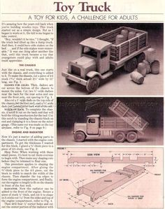 #2779 Wooden Toy Truck Plans - Wooden Toy Plans