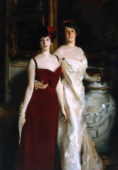 Portrait Of Ena and Betty, daughters of Asher and Mrs Wertheimer, 1901 by John Singer Sargent (American, John Singer Sargent, Sargent Art, Giovanni Boldini, Beaux Arts Paris, Living In London, John Everett Millais, Tate Britain, Tate Gallery, Oil Painting Reproductions