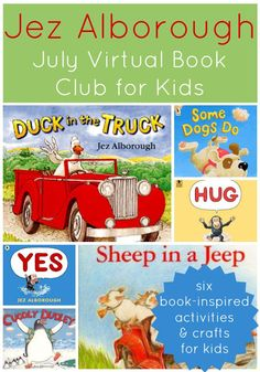 We love Jez Alborough books in our house, especially Duck.  Toddler Approved!: 6 Books & 6 Activities Inspired by Jez Alborough {Virtual Book Club for Kids Blog Hop}