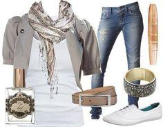 Calça jeans e várias combinações