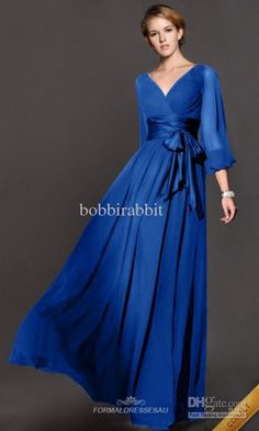 maxi dresses spring on sale at reasonable prices, buy WBCTW Plus Size Women Maxi Dress Spring Summer Elegant Long Sleeve Dress Vintage Dresses Vestidos High Waist Chiffon Dress from mobile site on Aliexpress Now! Evening Dresses With Sleeves, Formal Evening Dresses, Evening Gowns, Long Bridesmaid Dresses, Prom Dresses, Chiffon Dresses, Hippie Dresses, Wedding Dresses, Dresses 2014